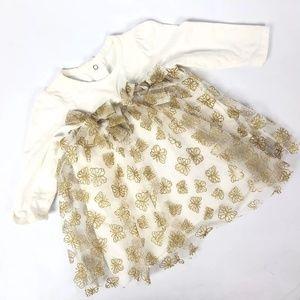 Baby Starters Glitter Dress Butterfly Pattern